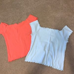 2 AERO OFF THE SHOULDER TOPS